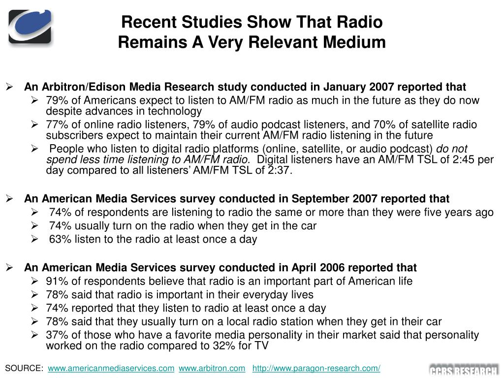 Recent Studies Show That Radio Remains A Very Relevant Medium