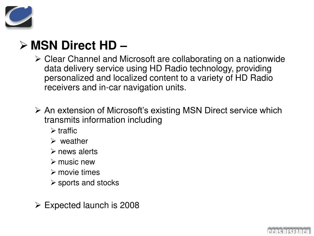 MSN Direct HD –