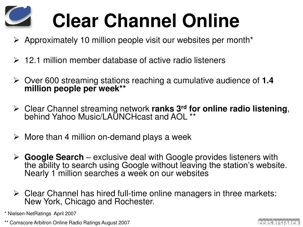 Clear Channel Online