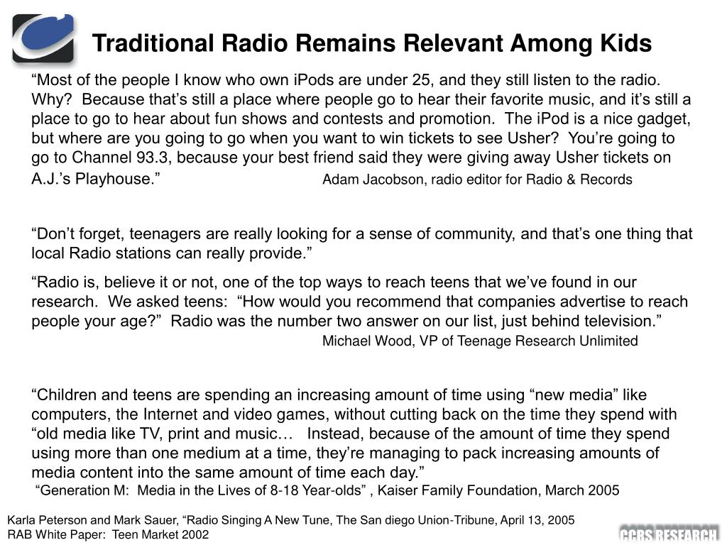 Traditional Radio Remains Relevant Among Kids