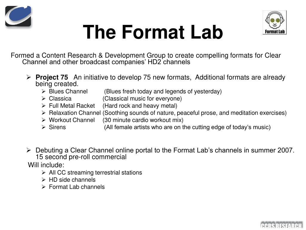 The Format Lab