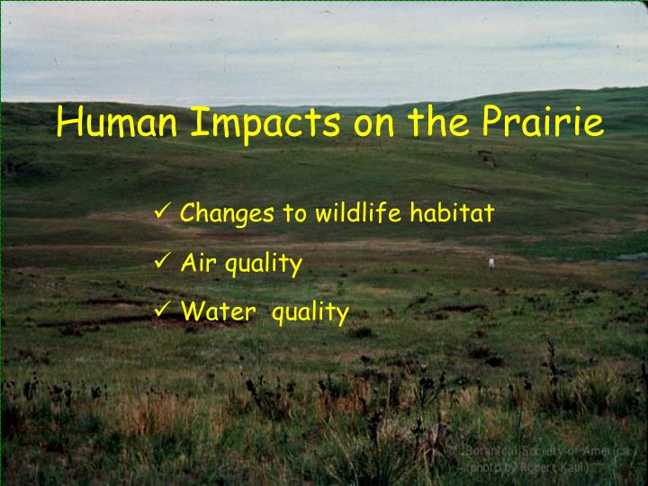 Human Impacts on the Prairie