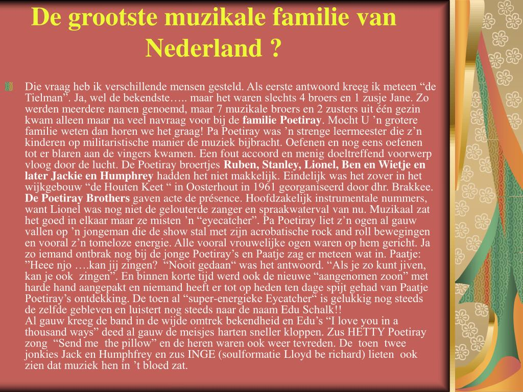 De grootste muzikale familie van Nederland ?