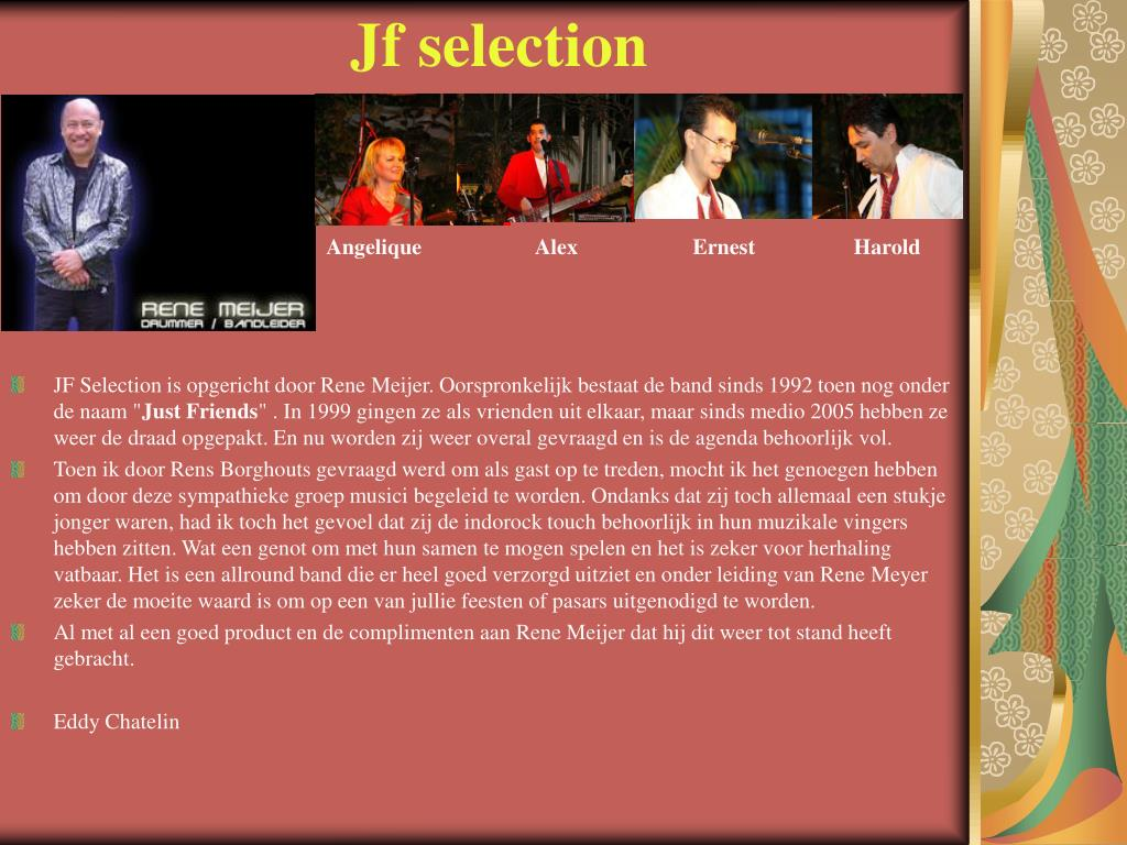 Jf selection