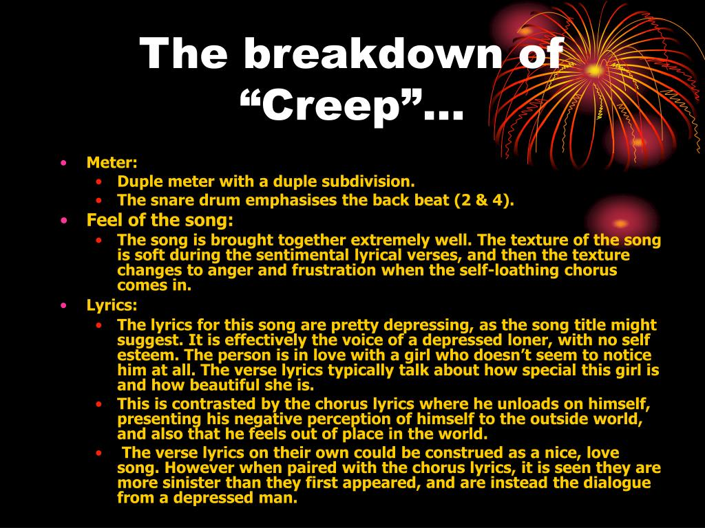 "The breakdown of ""Creep""…"
