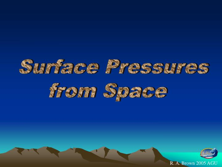 Surface Pressures