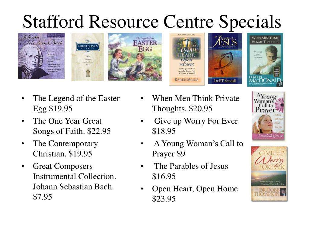 Stafford Resource Centre Specials