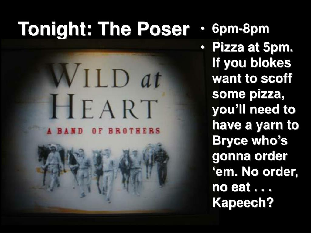 Tonight: The Poser