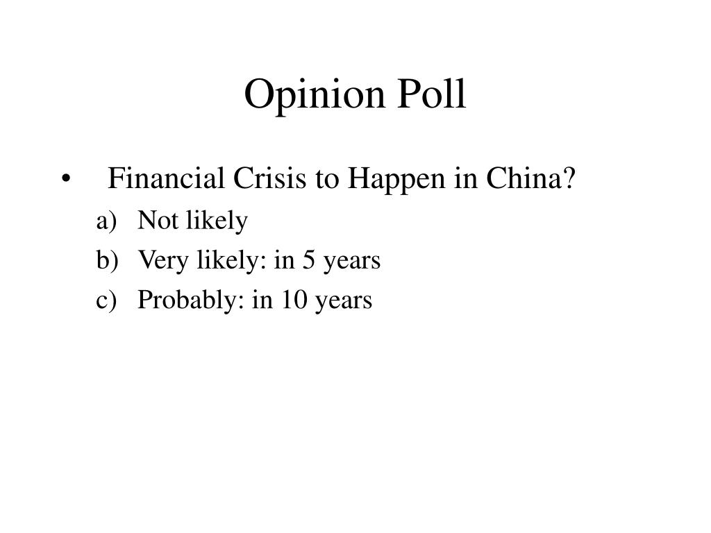 Opinion Poll