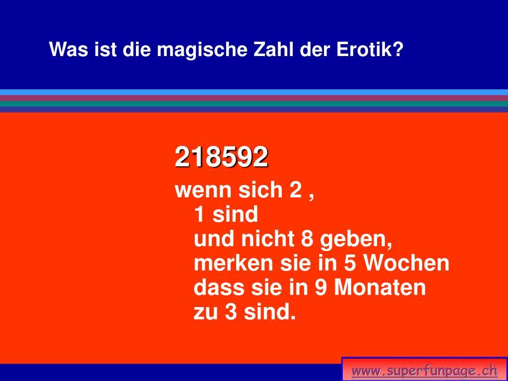 Was ist die magische Zahl der Erotik?