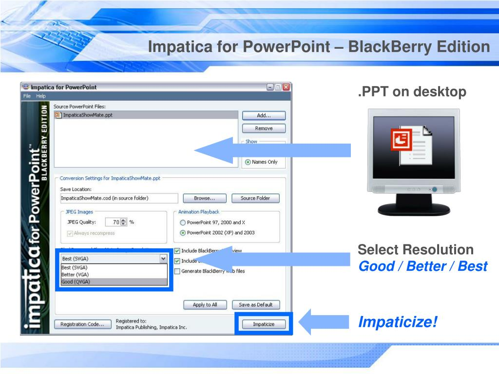 Impatica for PowerPoint – BlackBerry Edition