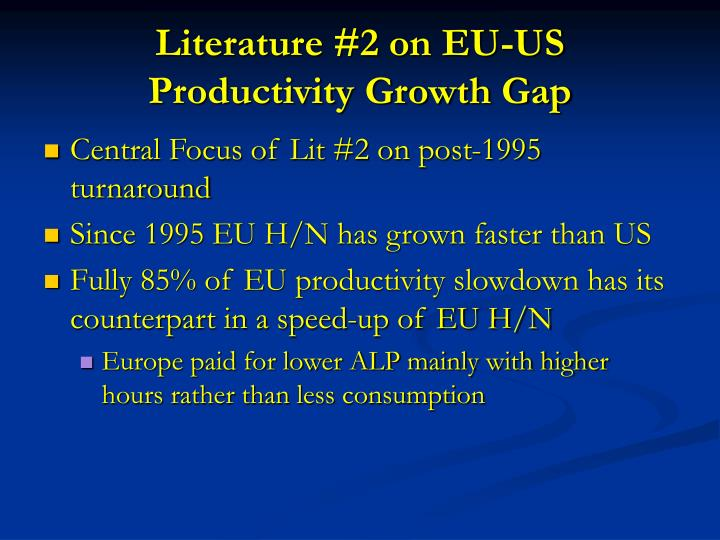 Literature #2 on EU-US