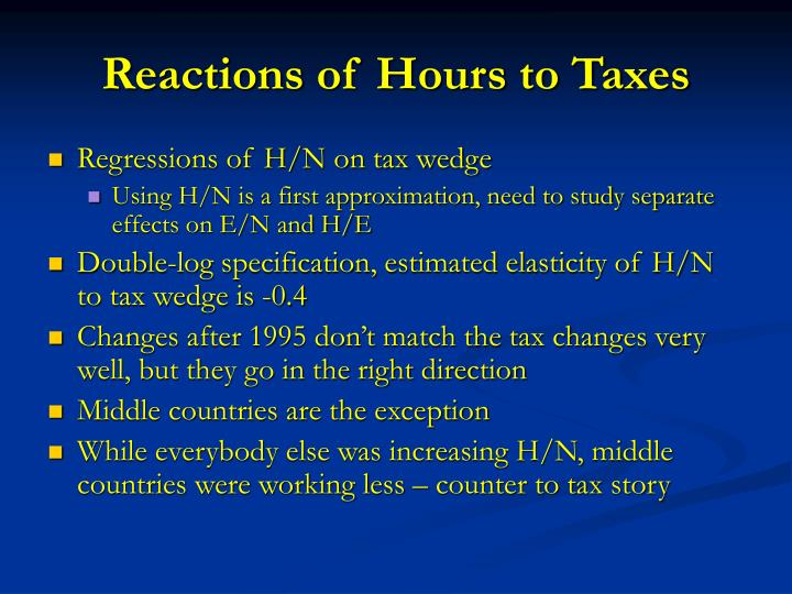 Reactions of Hours to Taxes