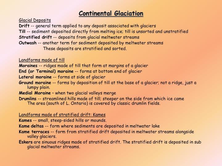 Continental Glaciation