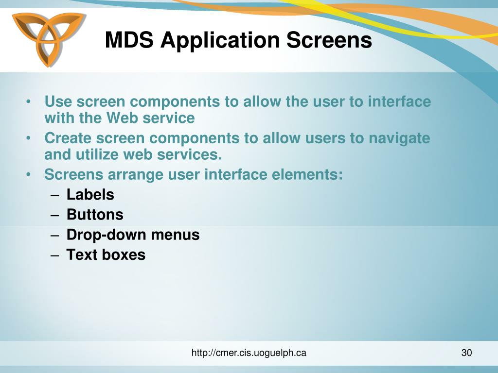 MDS Application Screens
