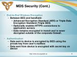 mds security cont