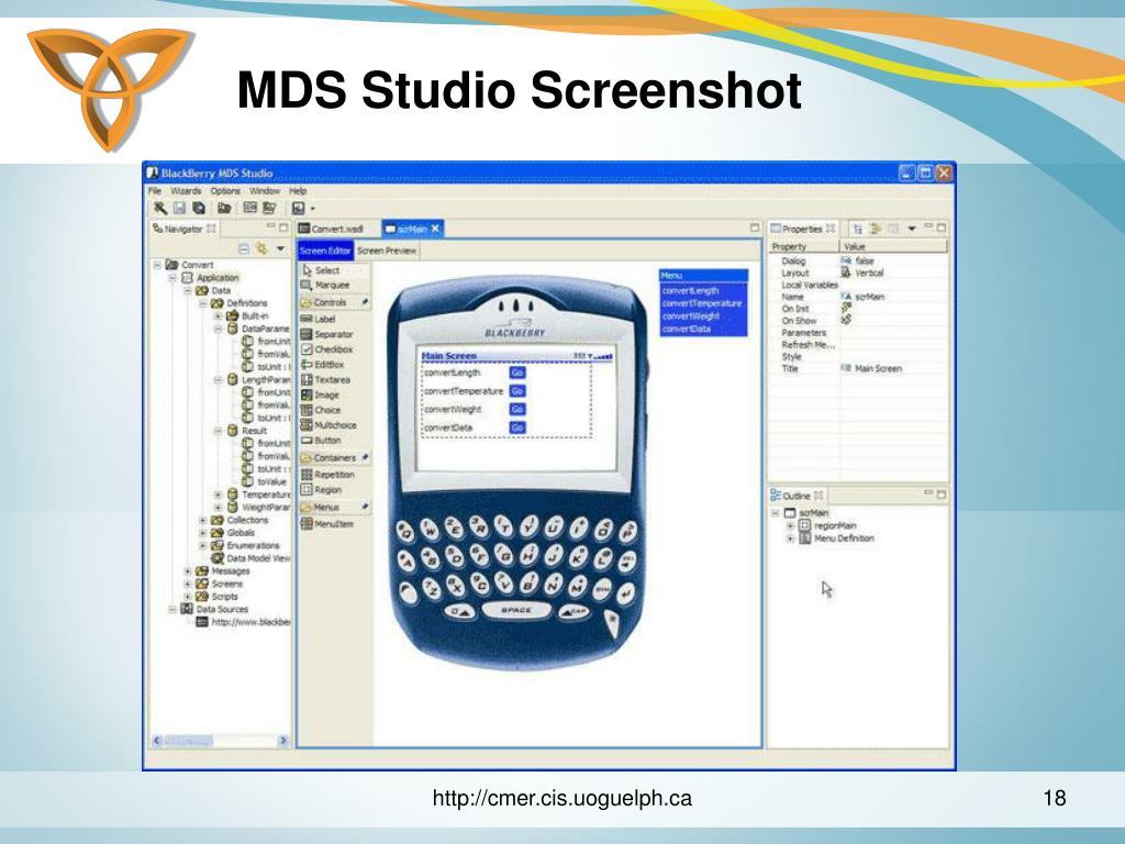 MDS Studio Screenshot