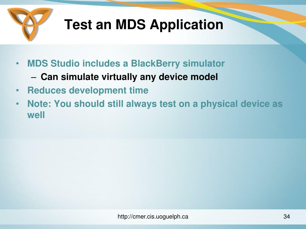 Test an MDS Application