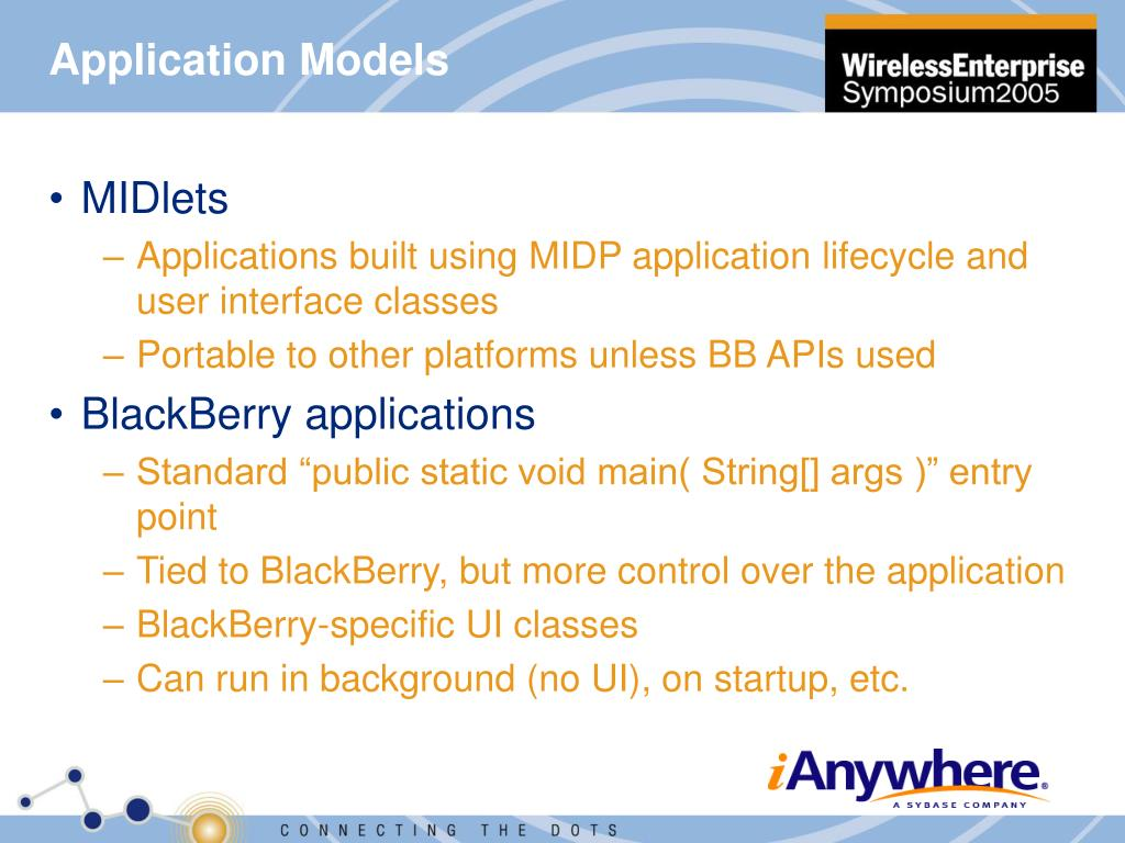 Application Models