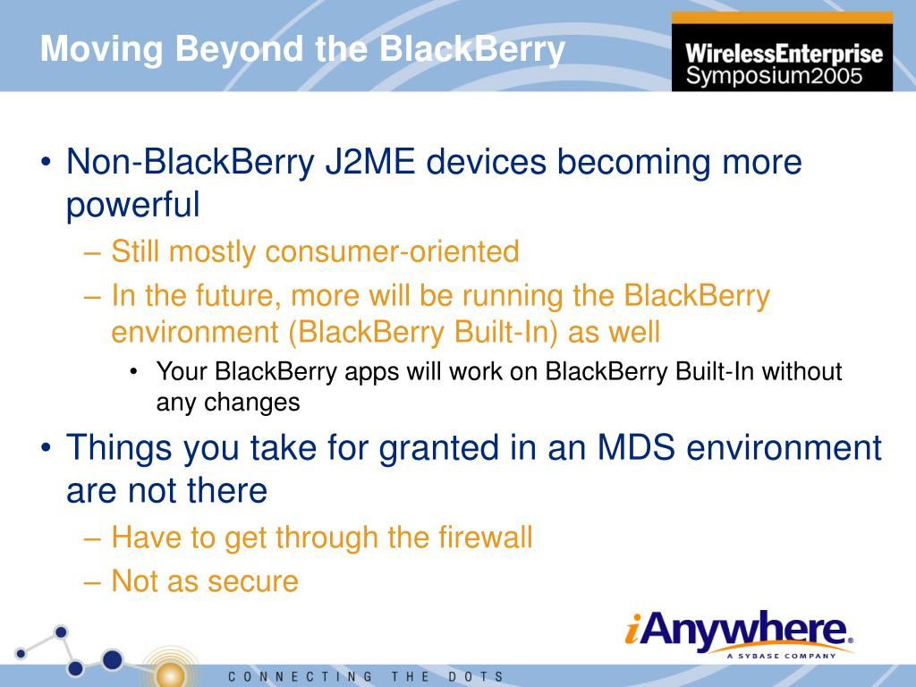 Moving Beyond the BlackBerry