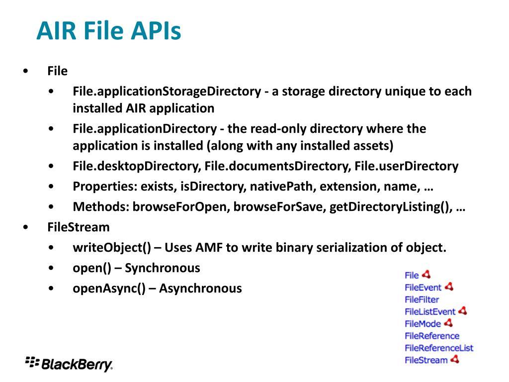 AIR File APIs