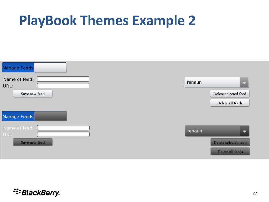 PlayBook Themes Example 2