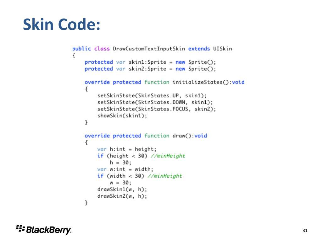 Skin Code: