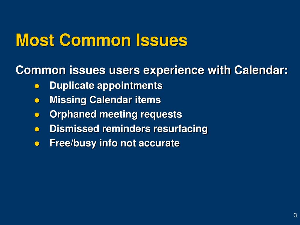 Most Common Issues