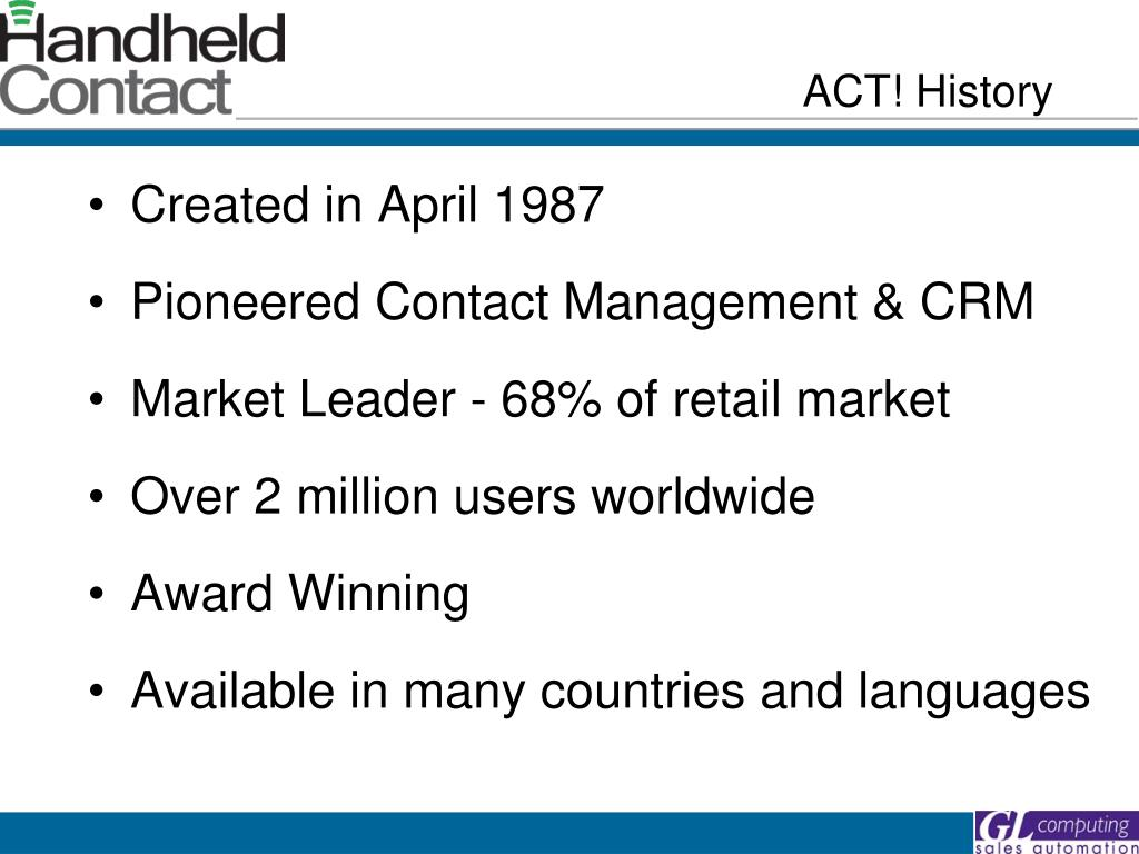 ACT! History