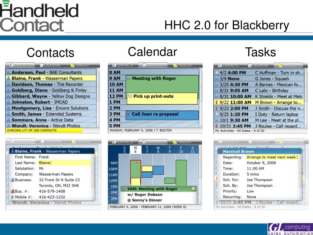 HHC 2.0 for Blackberry