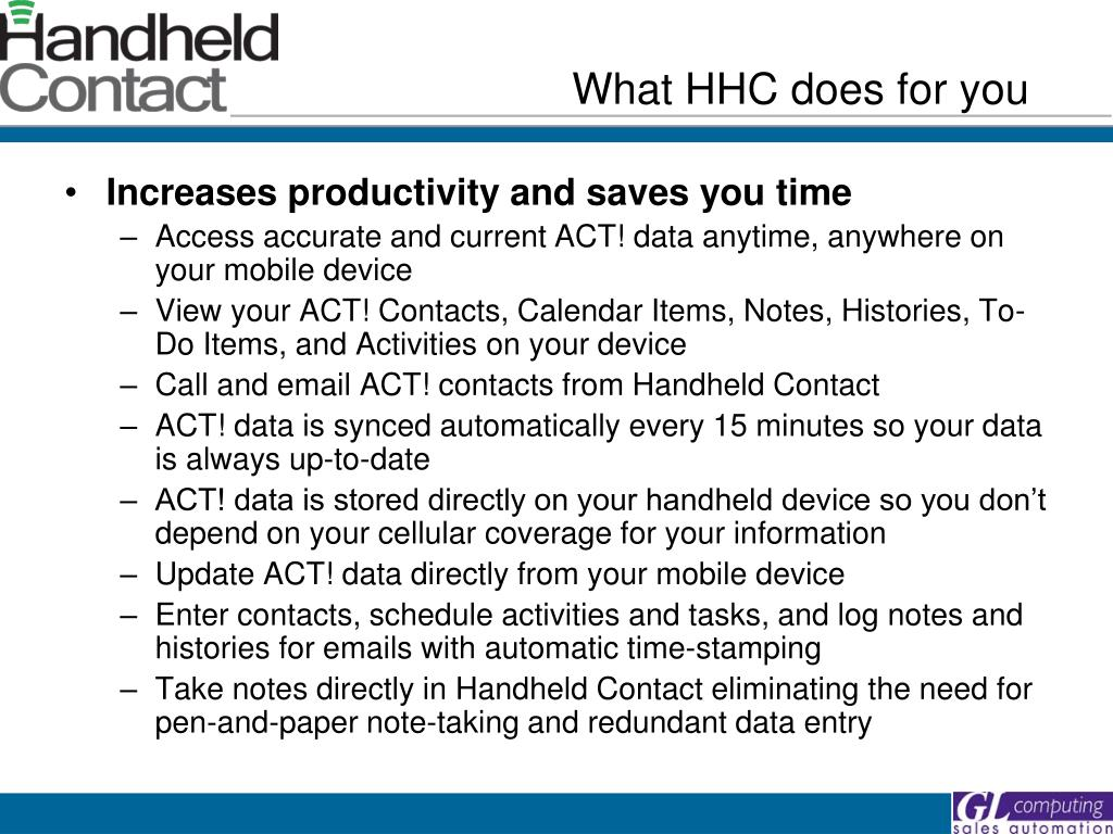 What HHC does for you