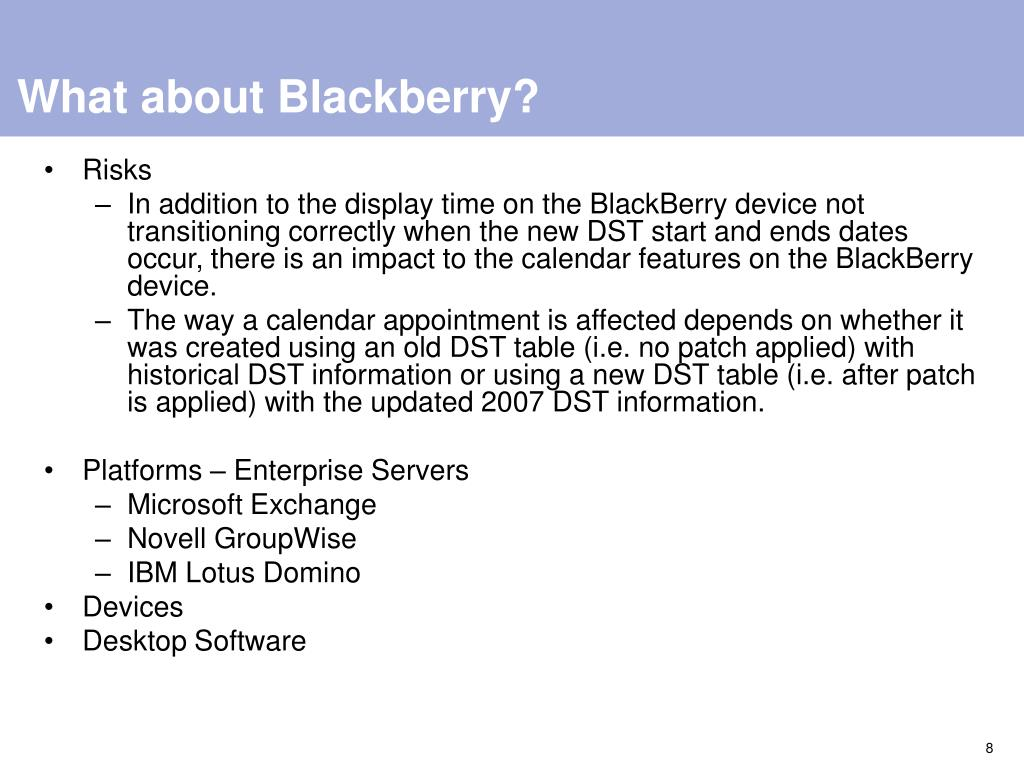 What about Blackberry?
