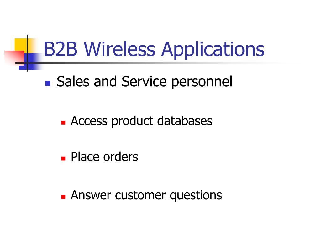B2B Wireless Applications