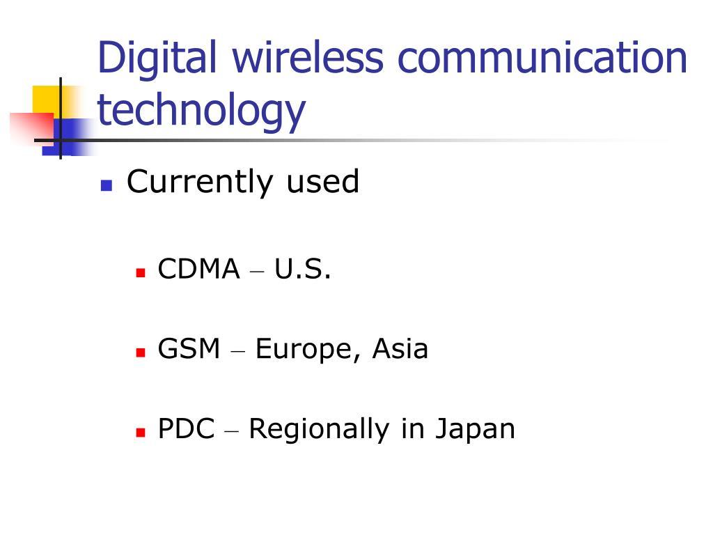 Digital wireless communication technology