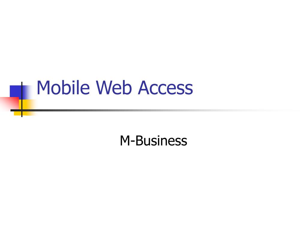 Mobile Web Access