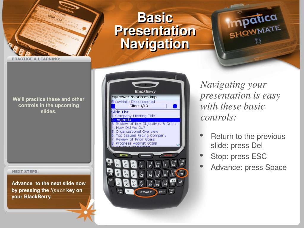 Basic Presentation Navigation