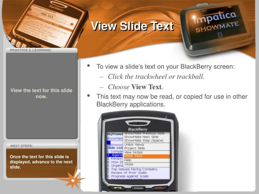 View Slide Text