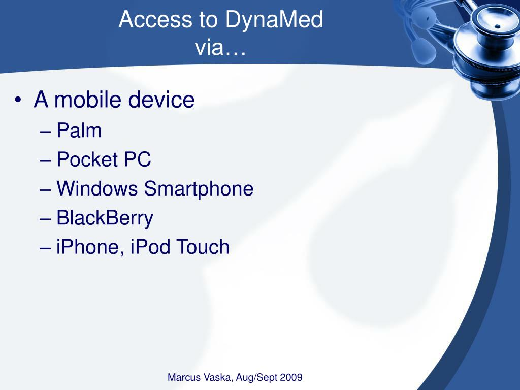 Access to DynaMed