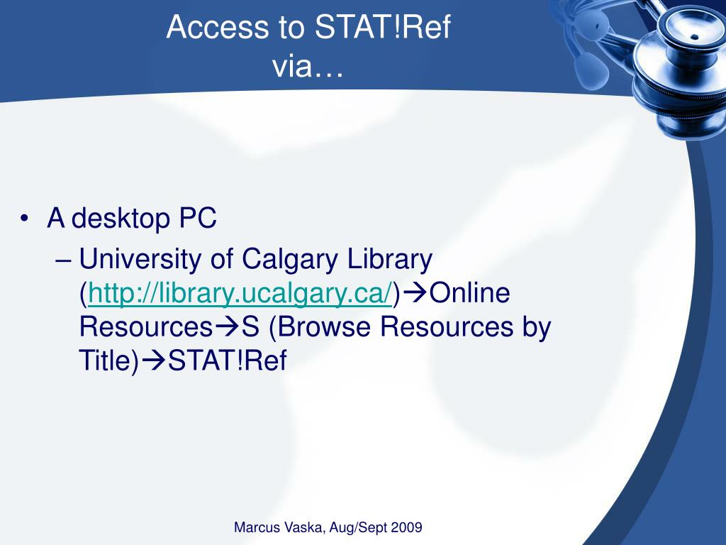 Access to STAT!Ref