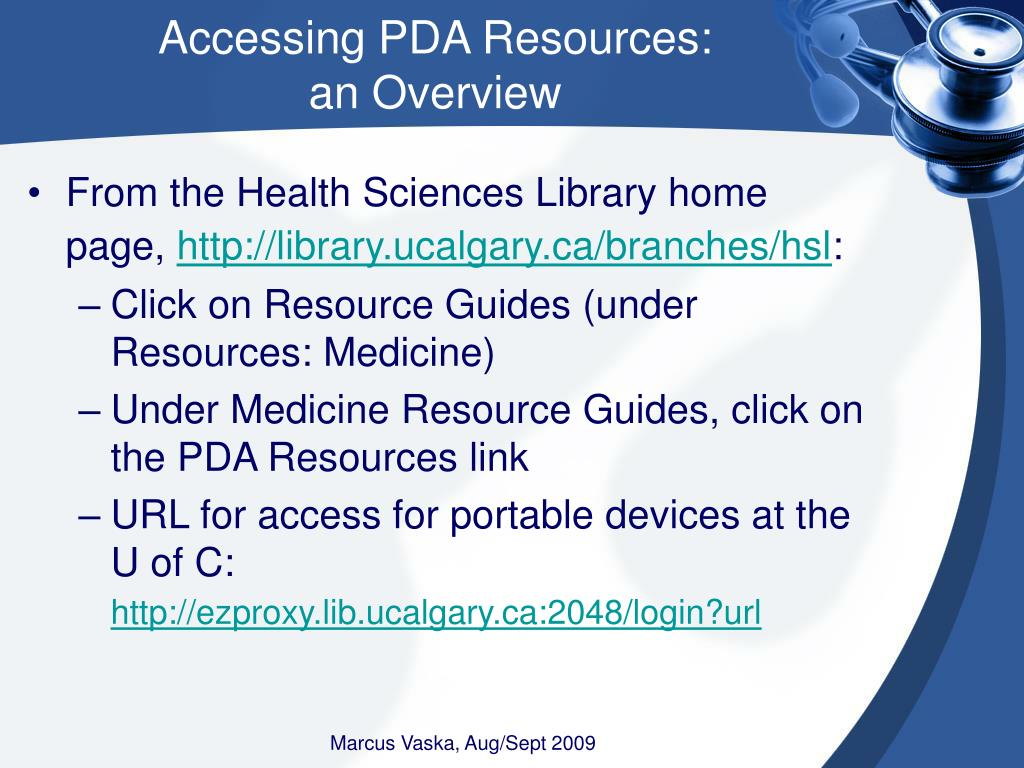Accessing PDA Resources: