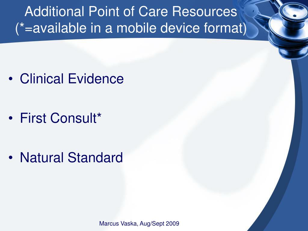 Additional Point of Care Resources