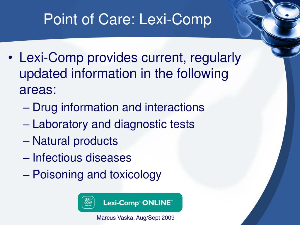 Point of Care: Lexi-Comp