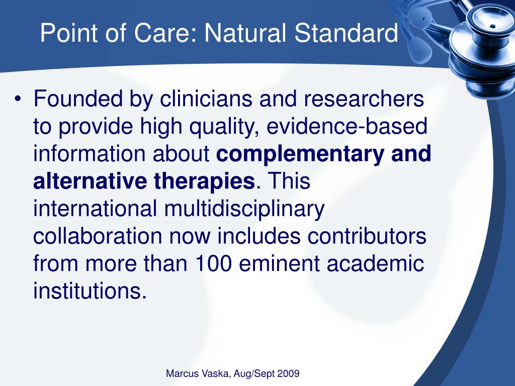 Point of Care: Natural Standard