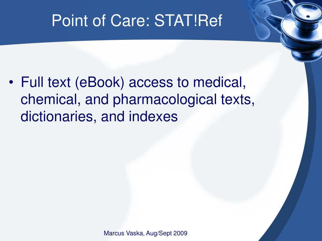 Point of Care: STAT!Ref