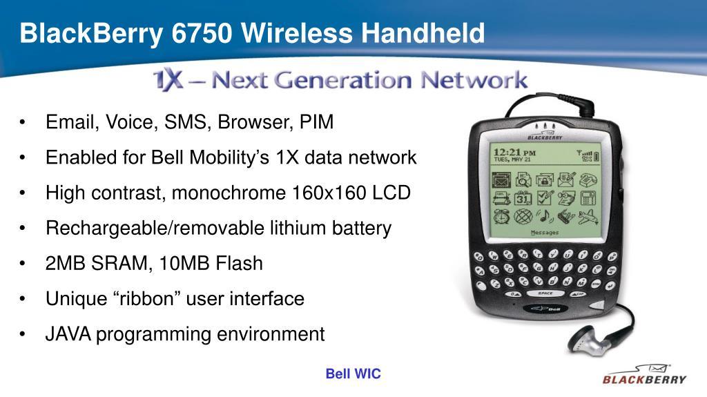 BlackBerry 6750 Wireless Handheld