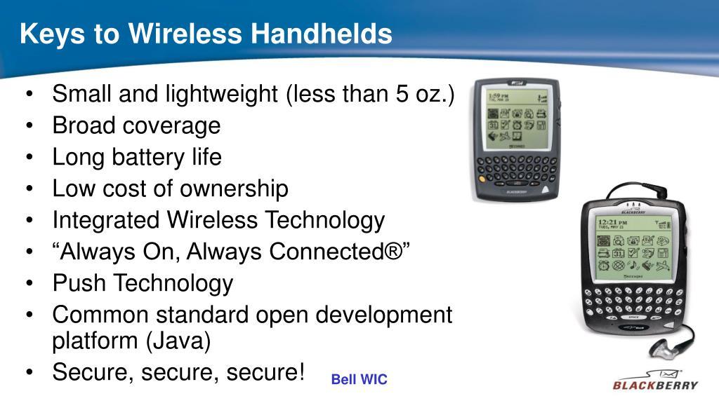 Keys to Wireless Handhelds