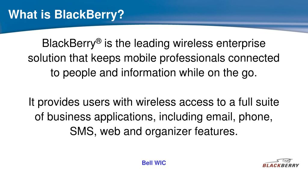 What is BlackBerry?
