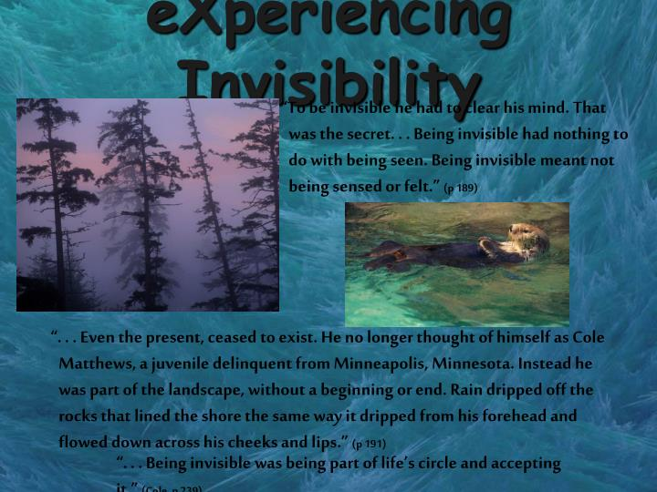 eXperiencing Invisibility
