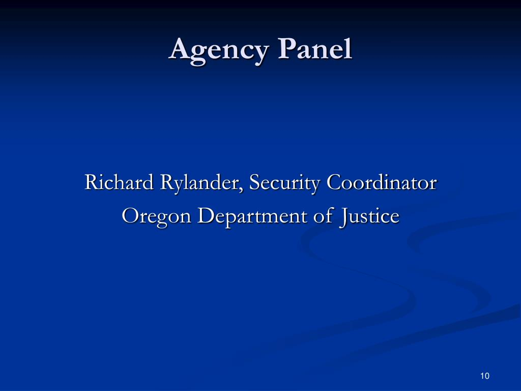 Agency Panel