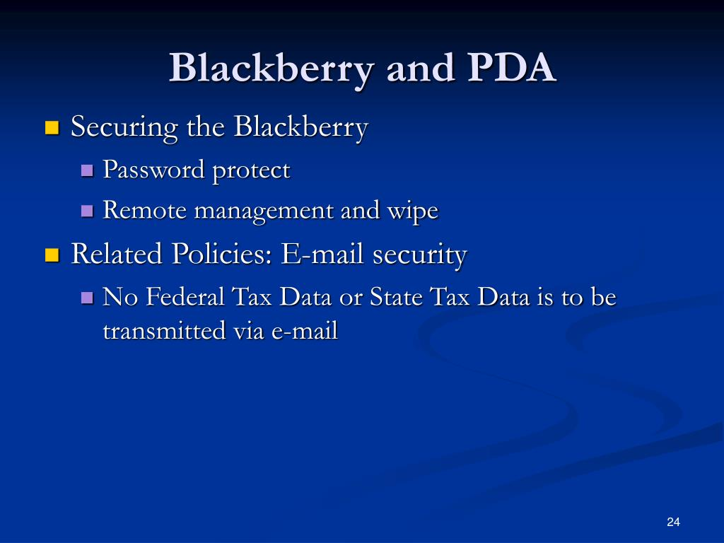 Blackberry and PDA